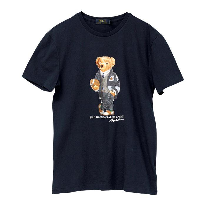ラルフローレン メンズ ポロベア 半袖Tシャツ ネイビー