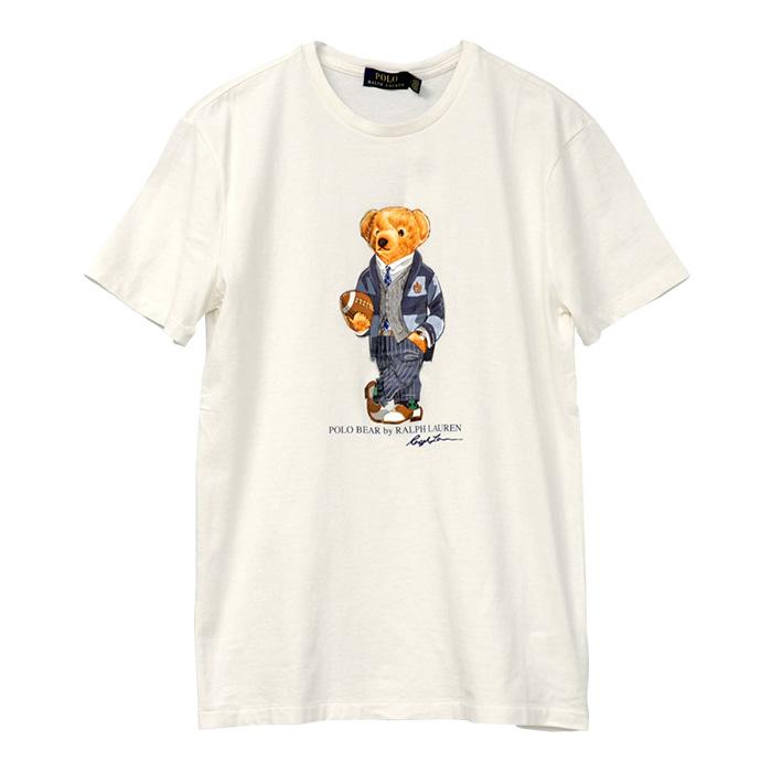 POLO ラルフローレン メンズ ベア 半袖Tシャツ ホワイト