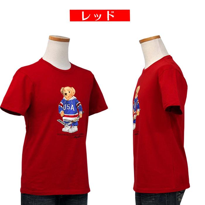 ラルフローレン メンズ ポロベア半袖Tシャツ 赤