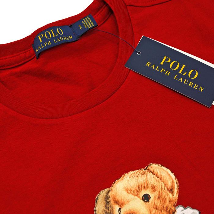 ラルフローレン メンズ ポロベア半袖Tシャツレッド