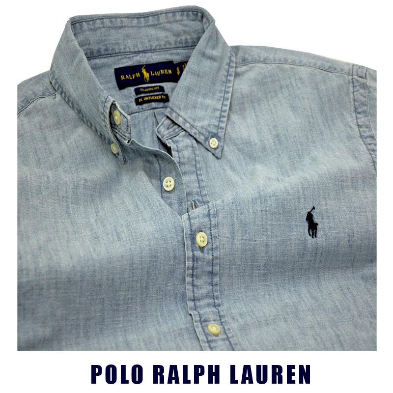ラルフローレン 半袖シャンブレーシャツ