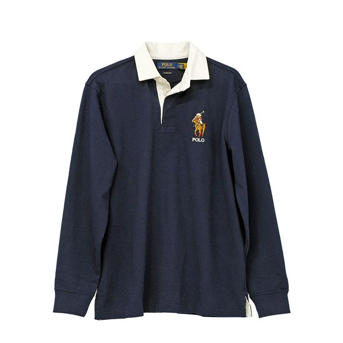 ラルフローレン クラシツクフィット Polo ベア & Big Pony ラグビーシャツ