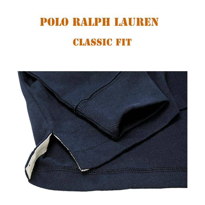 ラルフローレン ポロベアーラガーシャツ クラシツクフィット スリット入りの裾