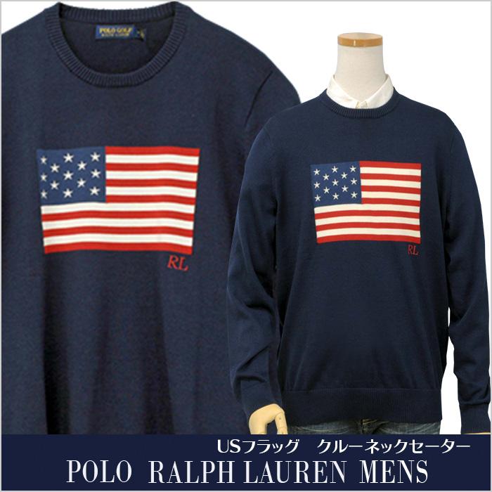 ラルフローレン POLO GOLF USAフラッグセーター