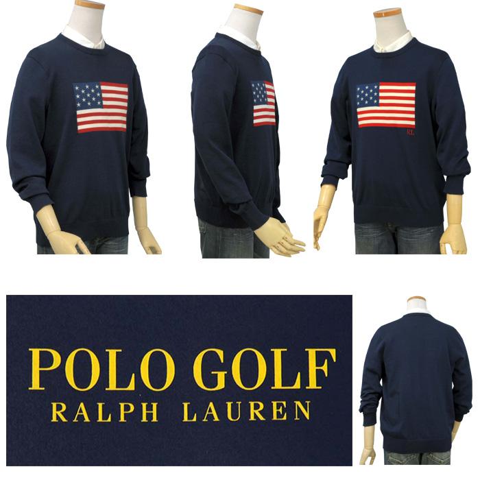 ラルフローレン メンズ POLO USAフラッグセーター