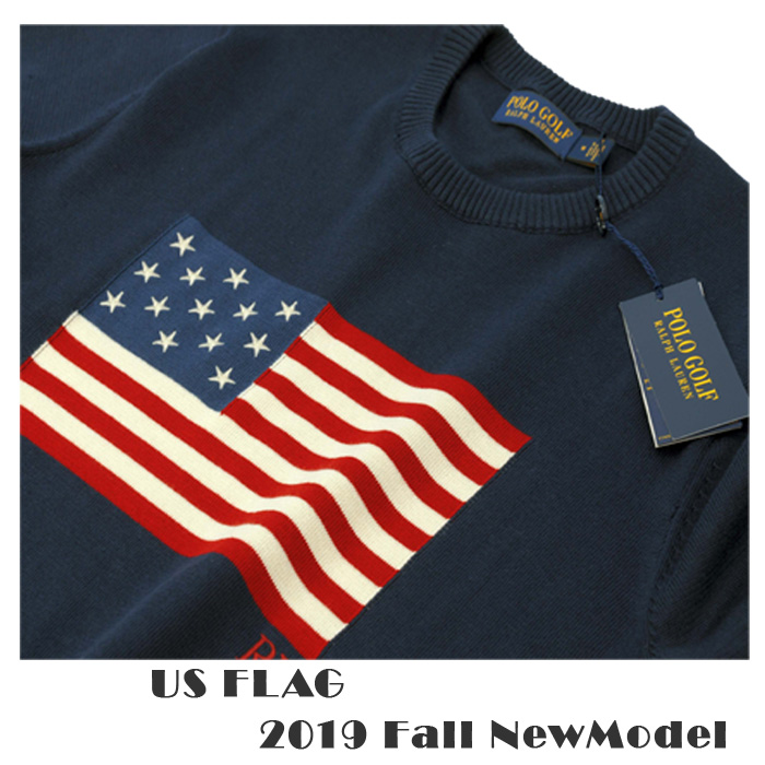 POLO ラルフローレン メンズ 半USAフラッグセーター