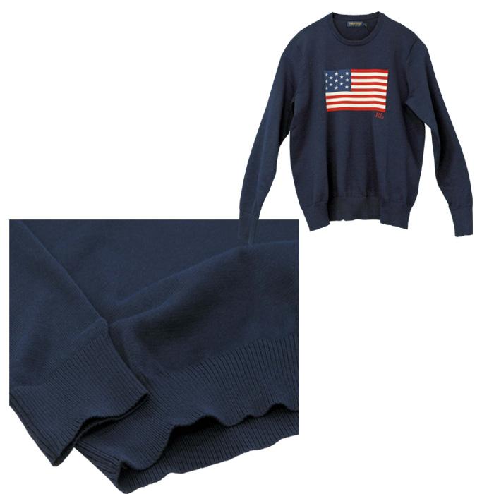 ラルフローレン メンズ USAフラッグセーター