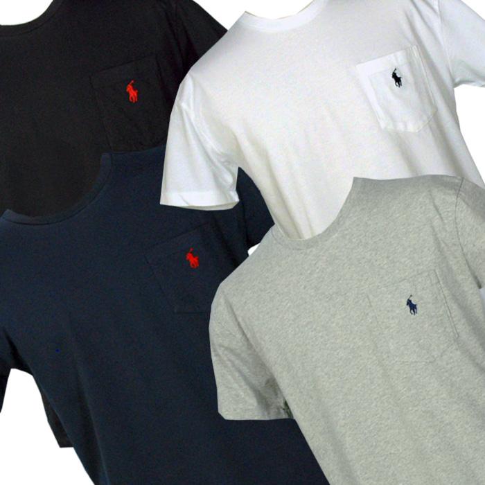 ラルフローレン ポケット付 半袖 Tシャツ グレー
