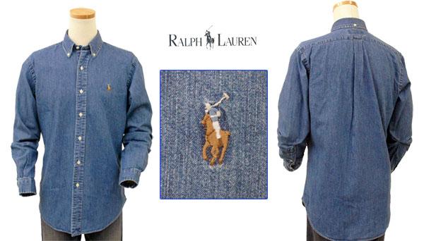 Ralph Lauren コットン デニム地シャツ