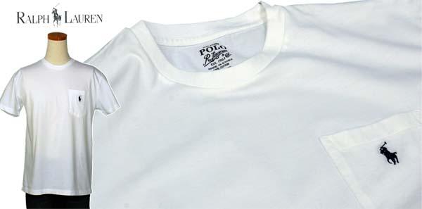 ラルフローレン ポケット付 半袖 Tシャツ ホワイト