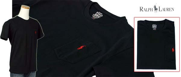 ラルフローレン ポケット付 半袖 Tシャツ ブラック
