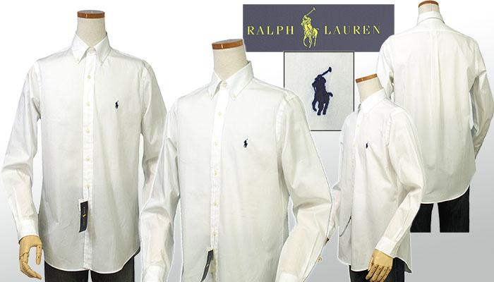 ラルフローレン メンズ 80's Sueded ブロードクロス長袖シャツ ホワイト