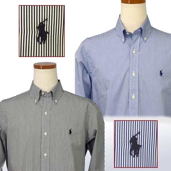 ラルフローレン メンズ 80's Sueded ブロードクロス長袖 ペンストライプシャツ