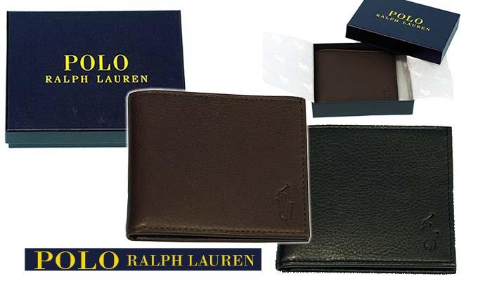 POLO ラルフローレン 二つ折り財布、ギフトボックス入りです