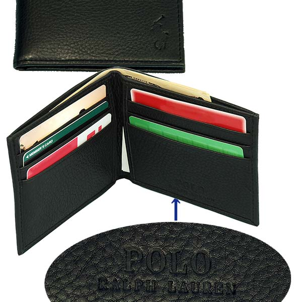 POLO Ralph Lauren 二つ折財布、ギフトボックス入り ブラック