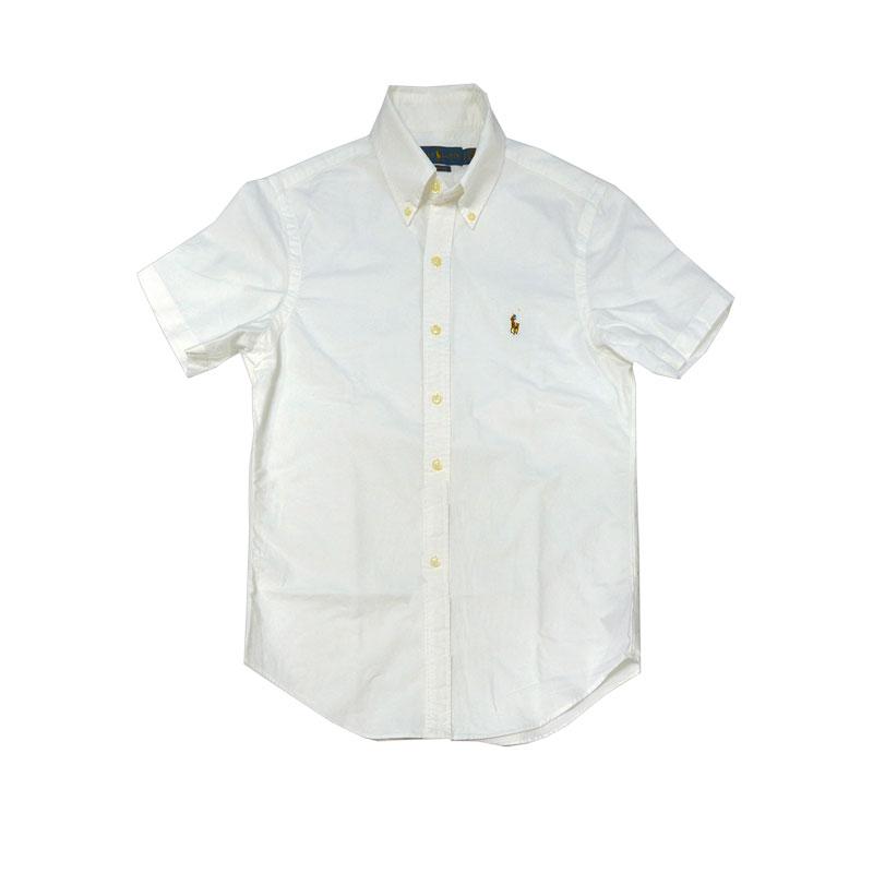 ラルフローレン 半袖オックスフォードシャツホワイト