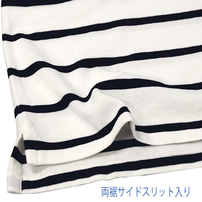 ラルフローレン メンズ 半袖鹿の子ポロシャツ カスタムスリムフィット サイドスリット