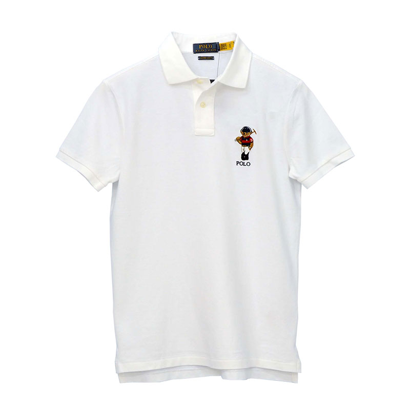 ラルフローレン カスタム スリム フィット Polo ベア ポロシャツ 両裾サイドスリット