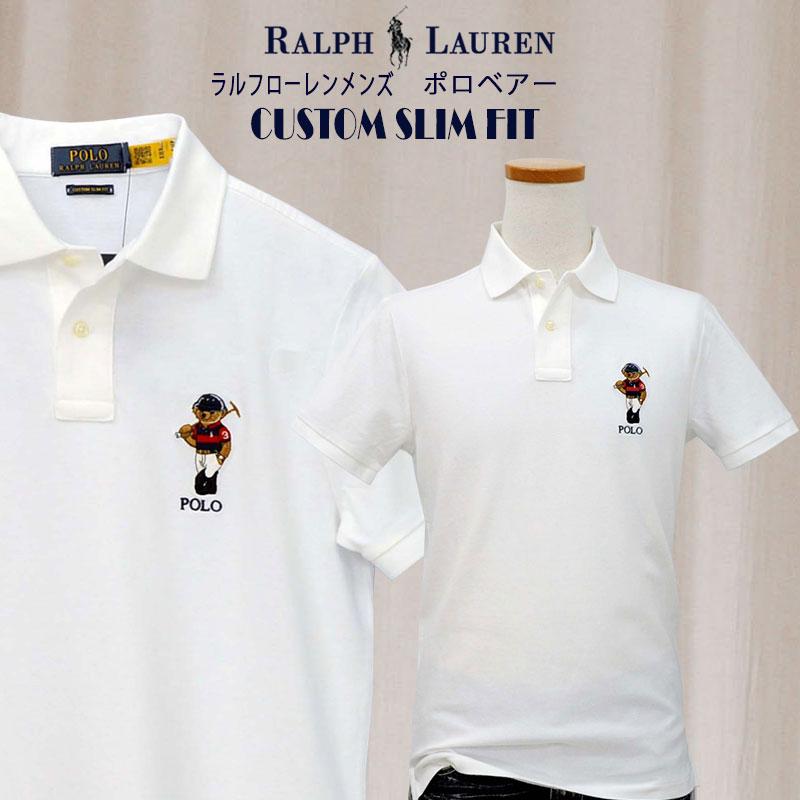 ラルフローレン メンズ ポロベア半袖ポロシャツ カスタムスリムフィット