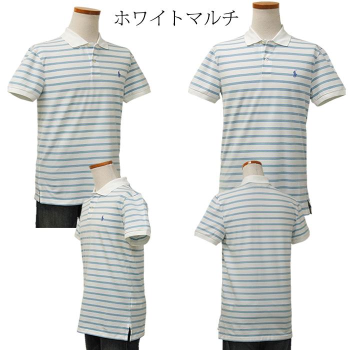 ラルフローレン メンズ POLO GOLF 半袖ボーダーポロシャツ ホワイトマルチ