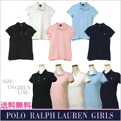 POLO by Ralph Lauren Girl's 半袖鹿の子ポロシャツ