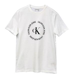 カルバンクライン メンズ ラバープリント CKロゴTシャツ