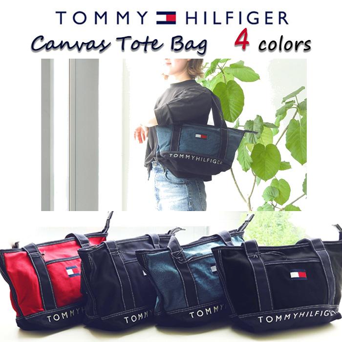 トミーヒルフィガー キャンバストートバッグ